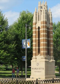 Summer on Wisconsin Avenue at Marquette University.