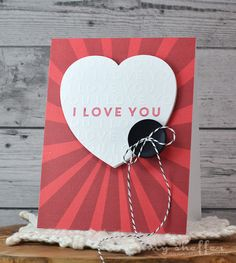 I Love You Card by Amy Sheffer for Papertrey Ink (December 2015)
