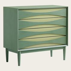 Chest of Four Drawers in Two Tone modern dressers chests and bedroom armoires