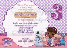 Doc McStuffins Invitations DIY Printable