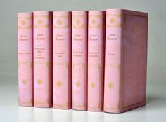 A pink leather collection of Jane Austen's complete works. The little nerd in me just did a backflip.