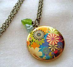 Flower Garden Locket...my favorite! {flashyfish.etsy.com}