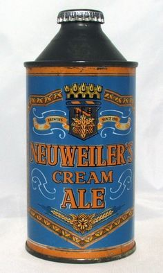 Neuweiler's Cream Ale , Allentown ,PA Beer Can Collection, Old Beer Cans, Vintage Seed Packets, Beer Brands, Beer Recipes, Best Beer, Vintage Labels, Craft Beer, Root Beer