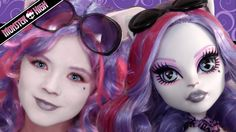 Catrine DeMew Monster High Doll Costume Makeup Tutorial for Cosplay or Halloween | KITTIESMAMA