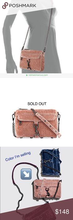 207d442073 NWOT Rebecca Minkoff Gorgeous Velvet Great Color 👛 NWOT Rebecca Minkoff  Luxury Dusty Pink   Mauve Velvet Crossbody Or Shoulder Bag