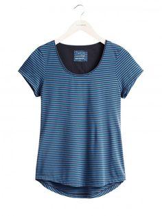Sandwich fashion Fall '16 - T-shirt with stripes - Blue Nights