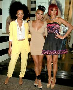 Solange Knowles, Cassie and Selita Ebanks attended the Carol's Daughter Event At Sephora in New York City yesterday.