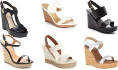 ..Black and White Wedges