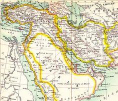 Arabia, Persia and Ottoman Empire Map 1904