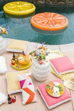 Gorgeous pool party summer party! See more party planning ideas at http://CatchMyParty.com!