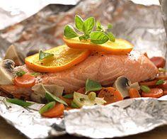 Salmon-Vegetable Bake #myplate #protein #vegetables