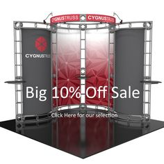 10x10 Orbital Truss Displays: 10% Off sale! Our biggest sale of the season. http://www.apgexhibits.com/Promotions-s/518.htm