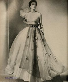 Adrian Evening Gowns   Gowns by Adrian   Gilbert Adrian evening gown, 1951.   fashion + photo