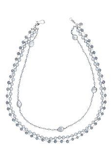 Grey Mix Multi Strand Necklace