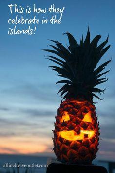 A Pine-O-Lantern for an island Halloween! #halloween