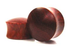 Convex Pink Ivory Wood Organic Ear Plugs/Gauges sizes by ORTOPLUG