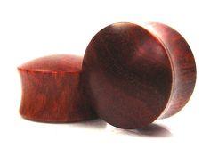 Convex Pink Ivory Wood Organic Ear Plugs/Gauges sizes by ORTOPLUG