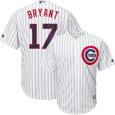 4324d4b052c Kris Bryant Chicago Cubs 4th of July Stars   Stripes Cool Base Replica  Jersey by Majestic®