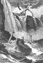 The Legend of Atlantis Part II: The Antediluvian World.  Zeus destroying wicked Atlantis