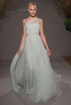 1119-romona-keveza-one-shoulder-wedding-dresses...........DREAM DRESS!  i love the color!
