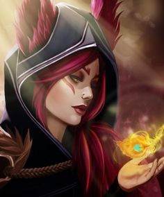 Xayah Fan Art by Bariibie