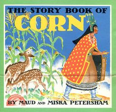 Petersham Story Book of Corn Publicity Poster Ad - Native American Deer Planting