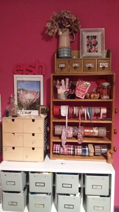 Make your own Ribbon Display Unit! Ribbon Display, Make Your Own, How To Make, Liquor Cabinet, Upcycle, The Unit, Storage, Rose, Vintage