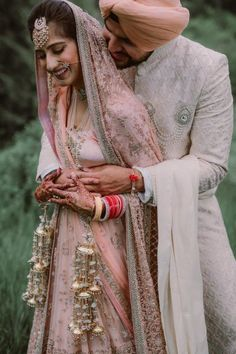 A bride in the most stunningblush pink lehenga, a groom in a coordinated outfit and the most serene location possible, this wedding was the most dreamy one we've come across in recent days. Wedding Planning Inspiration, Indian Wedding Planning, Wedding Planning Websites, Wedding Week, Wedding Scene, Asian Inspired Wedding, Bridal Lehngas, Punjabi Bride, Pink Lehenga