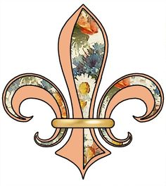 ArtbyJean - Paper Crafts: Fleur de lis with floral patterns