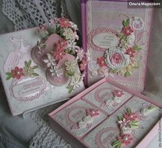 """Подарки для новорожденных, ручной работы. Ярмарка Мастеров - ручная работа Нежно-розовый комплект """"Мамины сокровища"""" с цветами.. Handmade."""