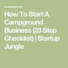 READ THIS FIRST: Complimentary Checklist: 23 Mistakes To Avoid When Starting a Campground Business. Free Business Plan, Sample Business Plan, Business Planning, Business Ideas, Camping List, Camping Places, Camping Stuff, Rv Campgrounds, Rv Sites