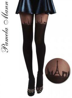 Pamela Mann #Paris Skyline #Tights - #Suspender Tights - MyTights.com   #france