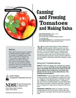 Canning and Freezing Tomatoes and Making Salsa - NDSU Extension Service