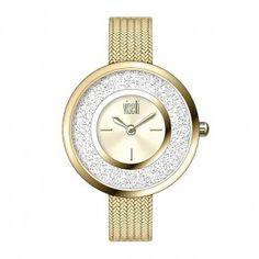 PE-480GG -Γυναικείο ρολόι Visetti Fashionista Series Stones And Crystals, Bracelet Watch, Watches, Detail, Bracelets, Accessories, Clocks, Clock, Bracelet