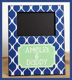 Photo Frame Personalized Picture Frame  by ChicMonogram on Etsy