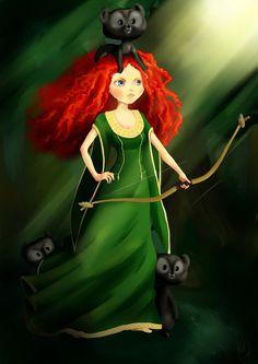 Merida Disney Family, Disney Love, Disney Art, Walt Disney, All Disney Princesses, Princess Disney, Brave Movie, Brave 2012, Princess Collection