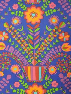 Image of 'Charlotte' fabric  -availablefrom Rainbow Vintage Home online shop