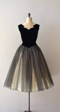 vintage 50s party dress / 1950s dress / Bona Nox by DearGolden, $250.00
