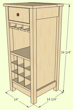 Ana White | Build a Mini Mod Wine Bar | Free and Easy DIY Project and Furniture Plans