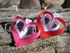 Heart Ribbon Sculpture Heart Hair Clip Heart by OhSoPrettyByAsia