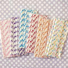 [shopsweetlulu] polka dot paper straws