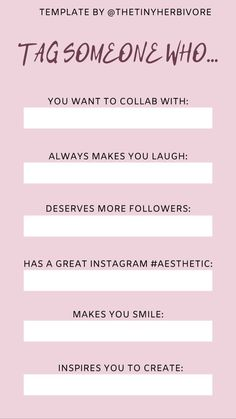Tag someone who...one of our favorite instagram story template ideas to tag the people in your life who you love or inspire you! @thetinyherbivore Best Instagram Stories, Instagram Story Ideas, Instagram Story Template, Instagram Templates, Who You Love, More Followers, Make You Smile, Have Fun, Stress