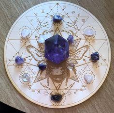 Honey Bee Sri Yantra Crystal Grid Altar Decoration | Etsy