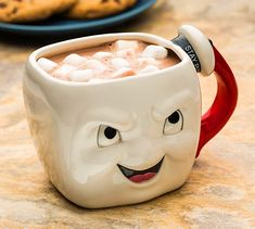Ghostbusters Stay Puft Marshmallow Face Coffee Mug The two sides show you the mood of Stay Puft, but don't mind his feeling. More importantly, using the Ghostbusters Stay Puft Marshallmallow Face mug enjoys your Cool Mugs, Unique Coffee Mugs, Funny Coffee Mugs, Funny Mugs, Coffee Humor, Men Coffee, Coffee Love, Coffee Cups, Coffee Tin
