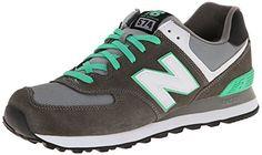 New Balance ML574 D, Herren Sneaker, Grau (CPF GREY/GREEN), EU 45 (US 11/UK 10.5) - http://uhr.haus/new-balance/new-balance-ml574-d-herren-sneaker-grau-cpf-grey-eu
