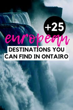 Where to Find Europe in Ontario - Discover all the Europe-like places in Ontario with this handy guide. Find places that are just like Iceland - but right here in Ontario Canada and so many more popular European destinations. I Ontario travel I Ontario Europe-like places I European small towns in Ontario I where to go in Ontario I what to see in Ontario I places to go in Ontario I things to do in Ontario I places to see in Ontario I travel in Ontario I local travel I #Ontario #Canada Ontario City, Ontario Travel, Montreal Travel, Canada Destinations, Canadian Travel, Travel Guides, Travel Tips, I See It, European Destination