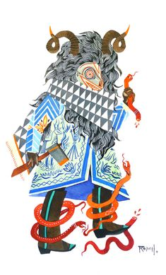 Beautiful gouache illustrations by Stacey Rozich. I adore her use of pattern and fine line work.
