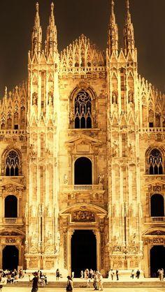 Il Duomo di Milano, Italia.