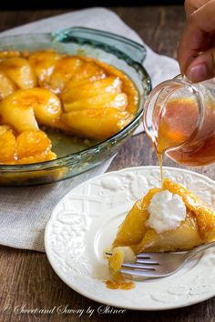 Pear Tarte Tatin, light yet flavorful dessert, is perfect after heavy dinner...