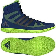 sale retailer c106c 018d1 Adidas Mat Wizard 3 Wrestling Shoes - Navy BlueSilverLime Green Canada  Adidas